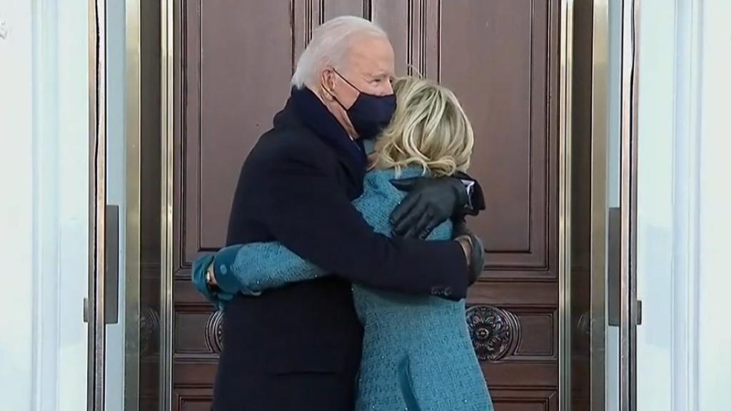 US President Joe Biden arrives to the White House
