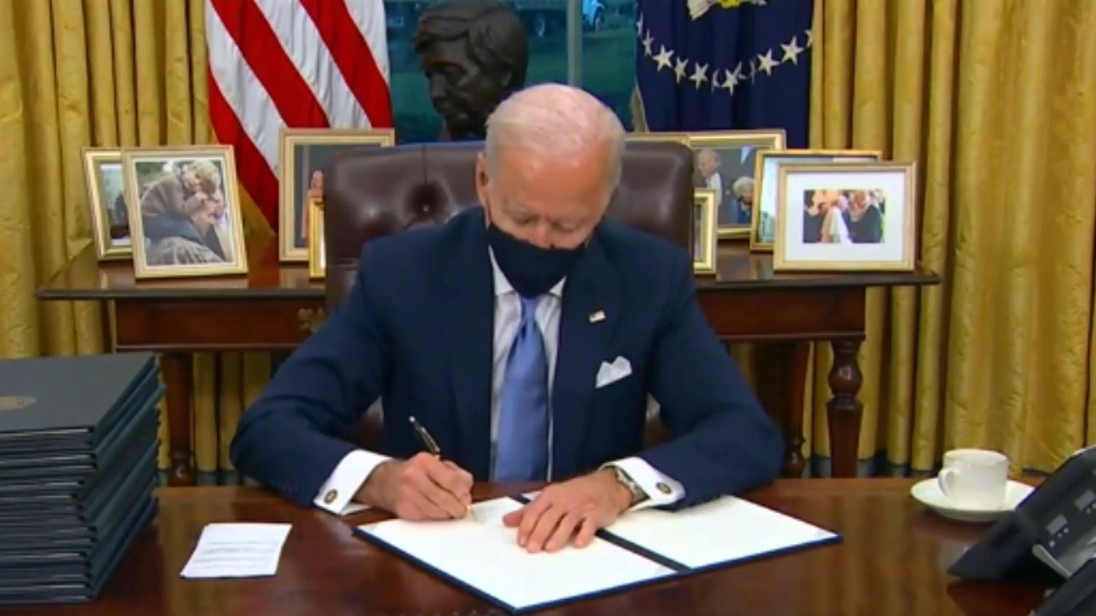Joe Biden signs coronavirus executive orders