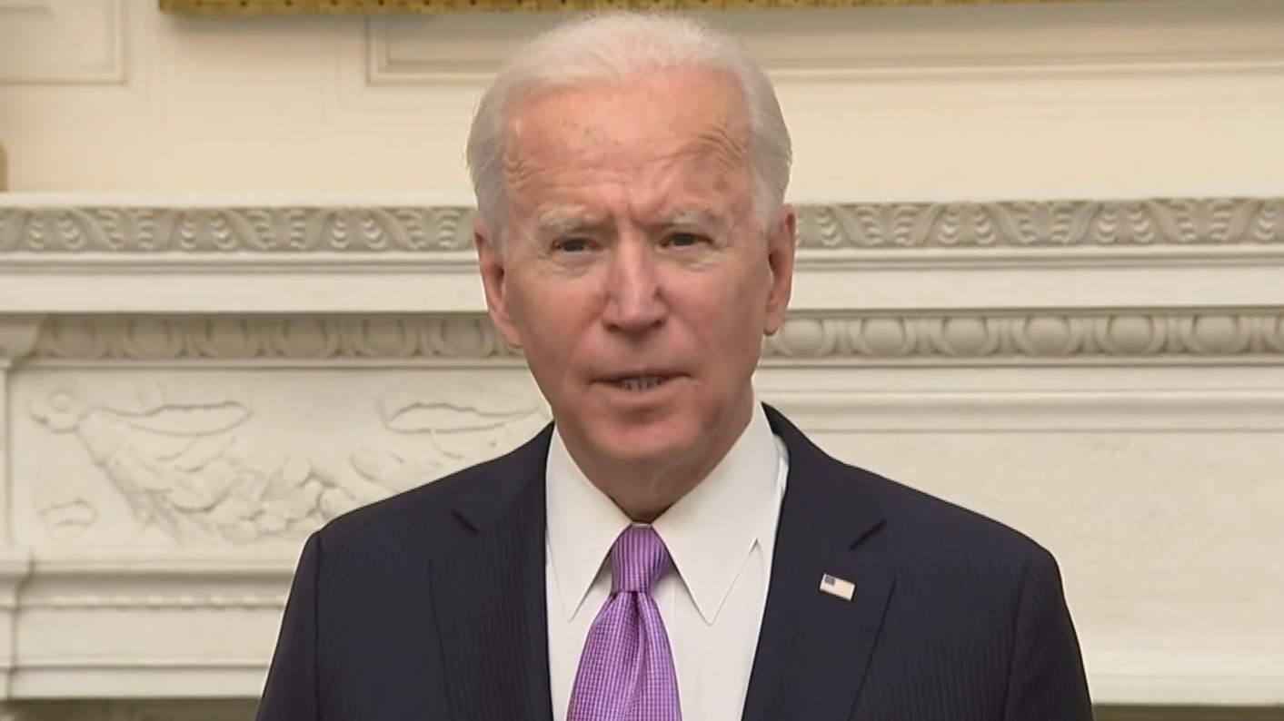 US President Joe Biden talks about his coronavirus strategy