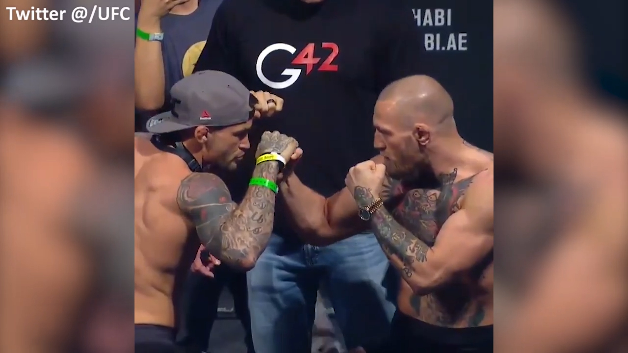 McGregor and Poirier face-off