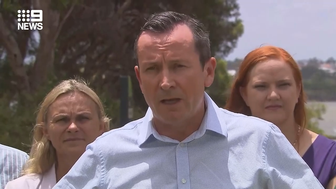 McGowan blames 'professional protesters' for tent city