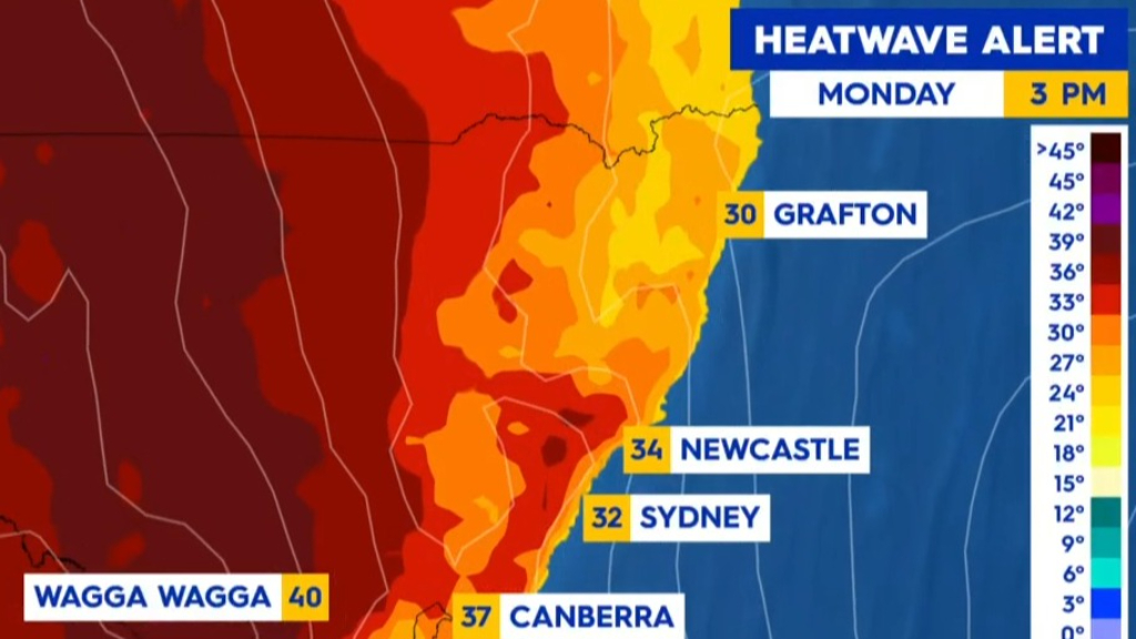 Heatwave conditions across south-eastern states
