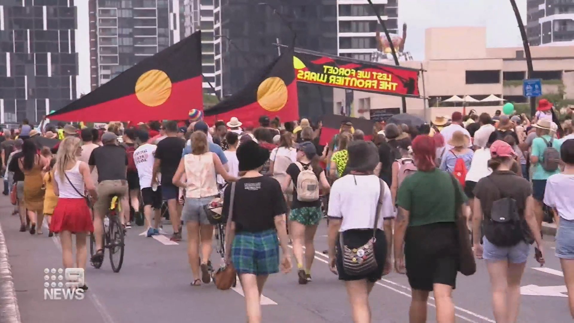 Thousands of protesters expected ahead of Australia Day