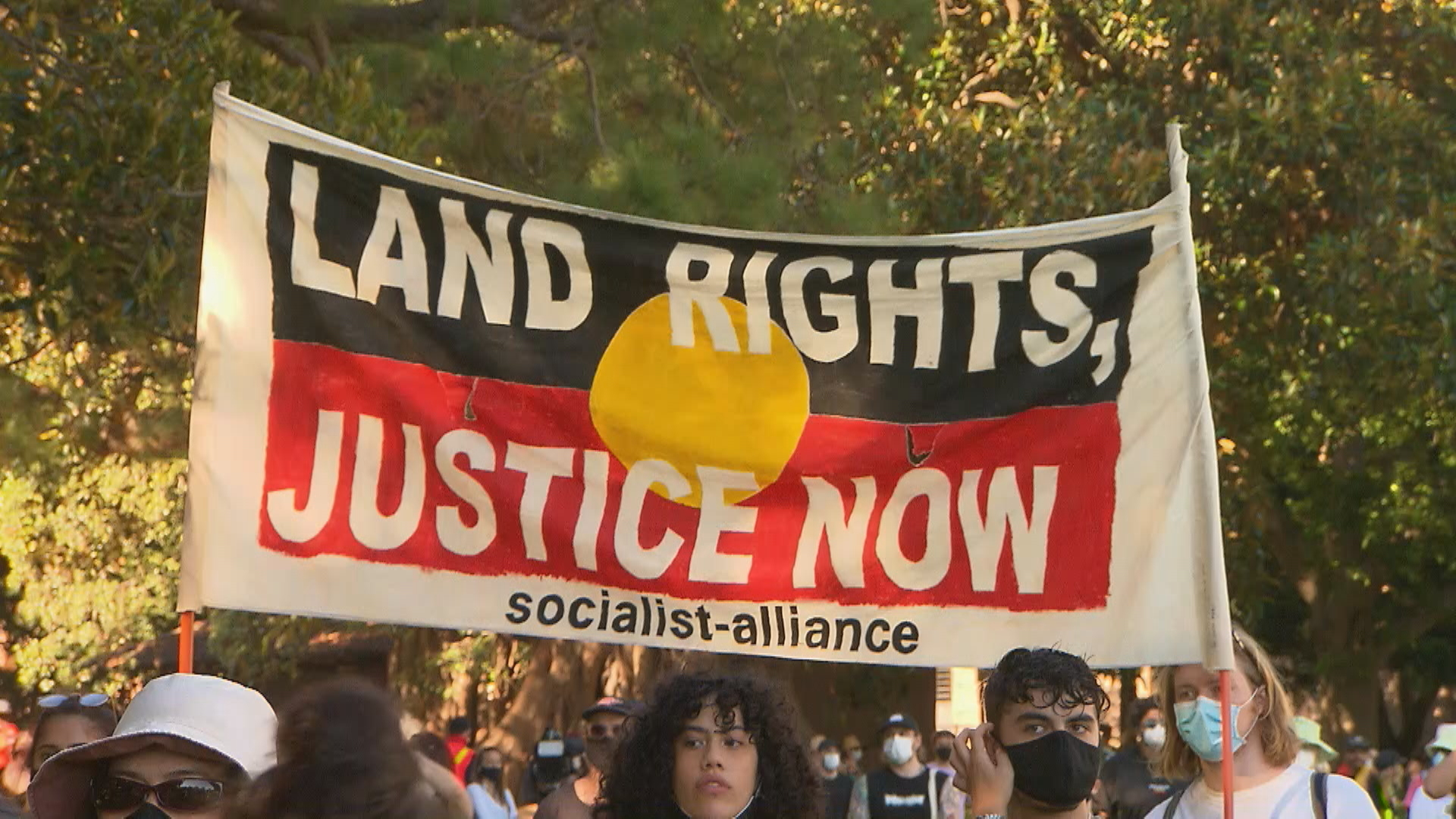 Australia Day protesters rally in Sydney