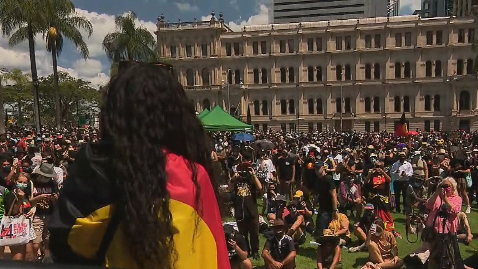 Thousands expected at Brisbane CBD for Australia Day protest