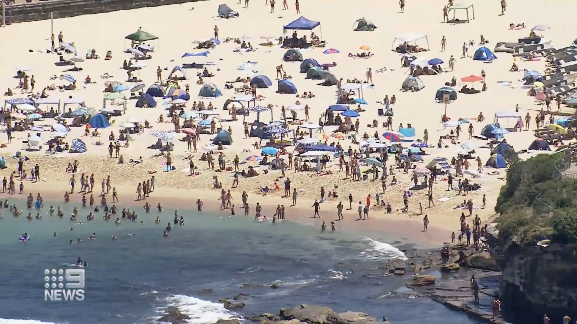 Searing heat, beach parties and protests on Australia Day