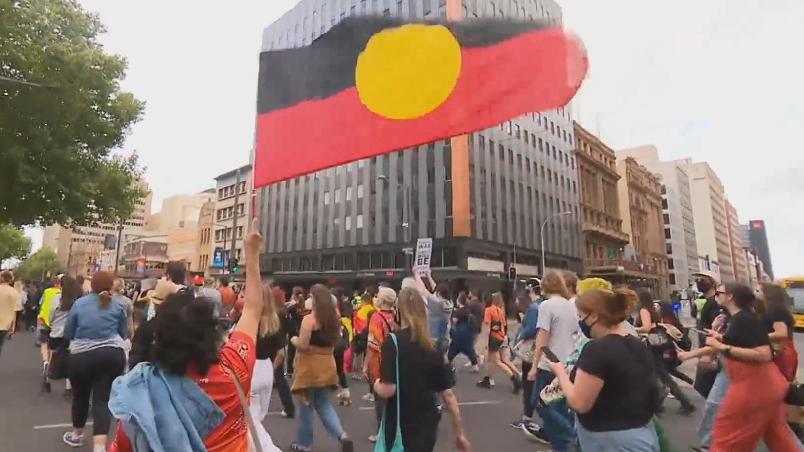 Thousands rally in SA to change the date of Australia Day