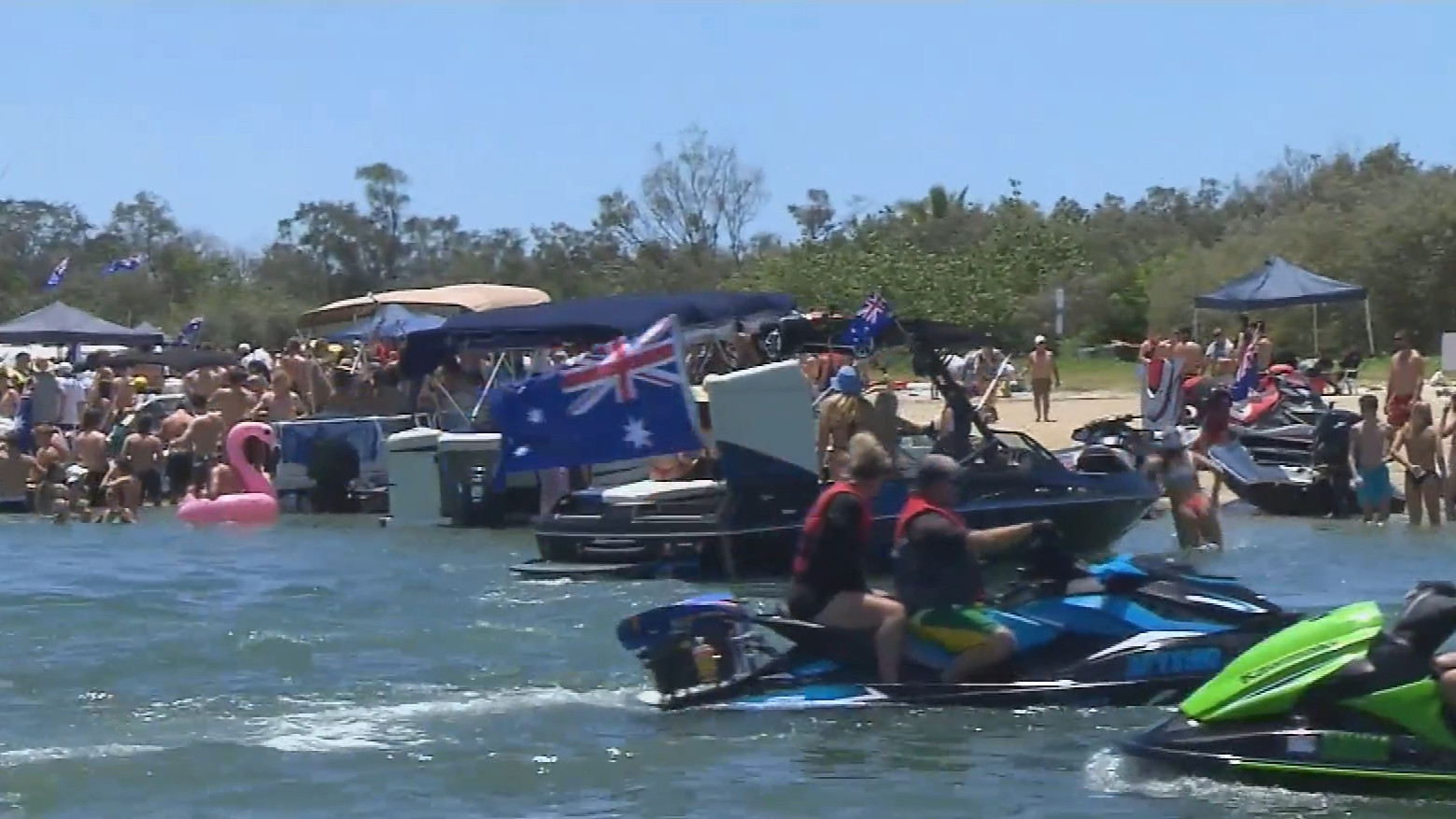 Gold Coast's Broadwater comes alive on Australia Day