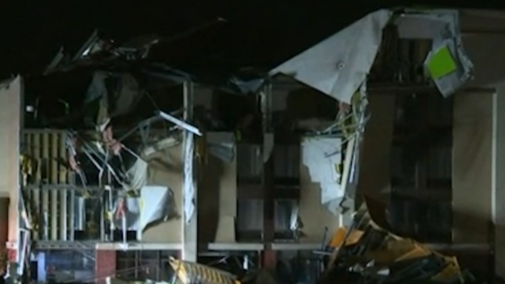 Severe damage after tornado tears through Alabama