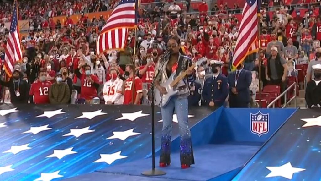 Super Bowl 2021: H.E.R. Sings America the Beautiful at Super Bowl LV