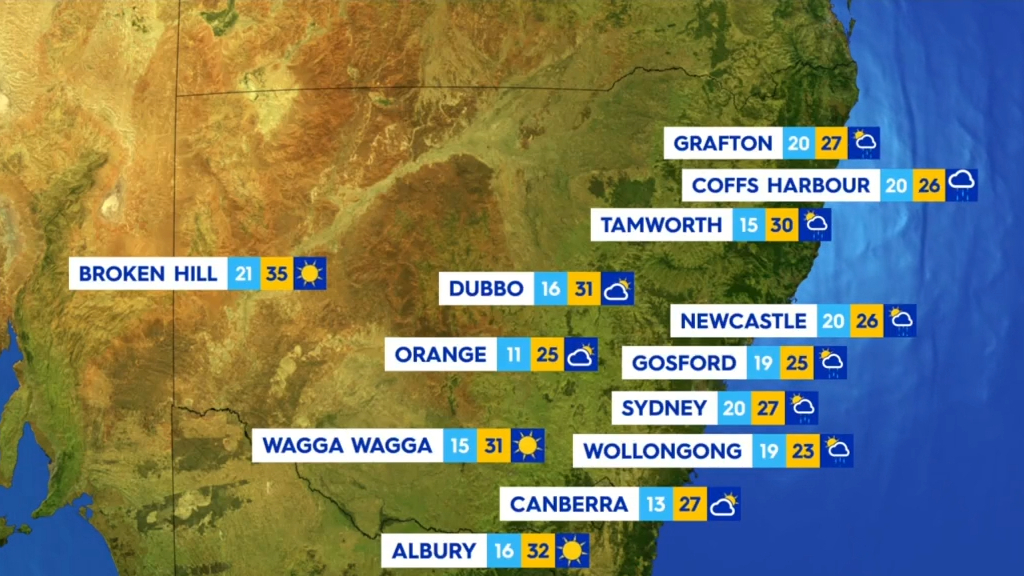 National weather forecast for Thursday 18 February, 2021