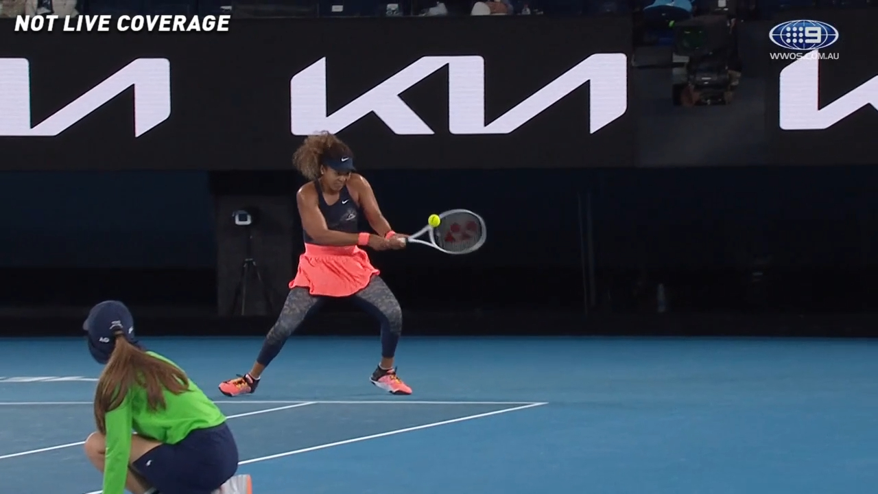 'Outlandish' backhand from Osaka