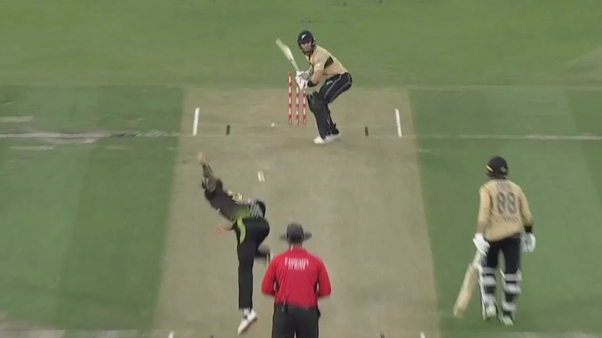 Waugh fumes as skied ball finds grass