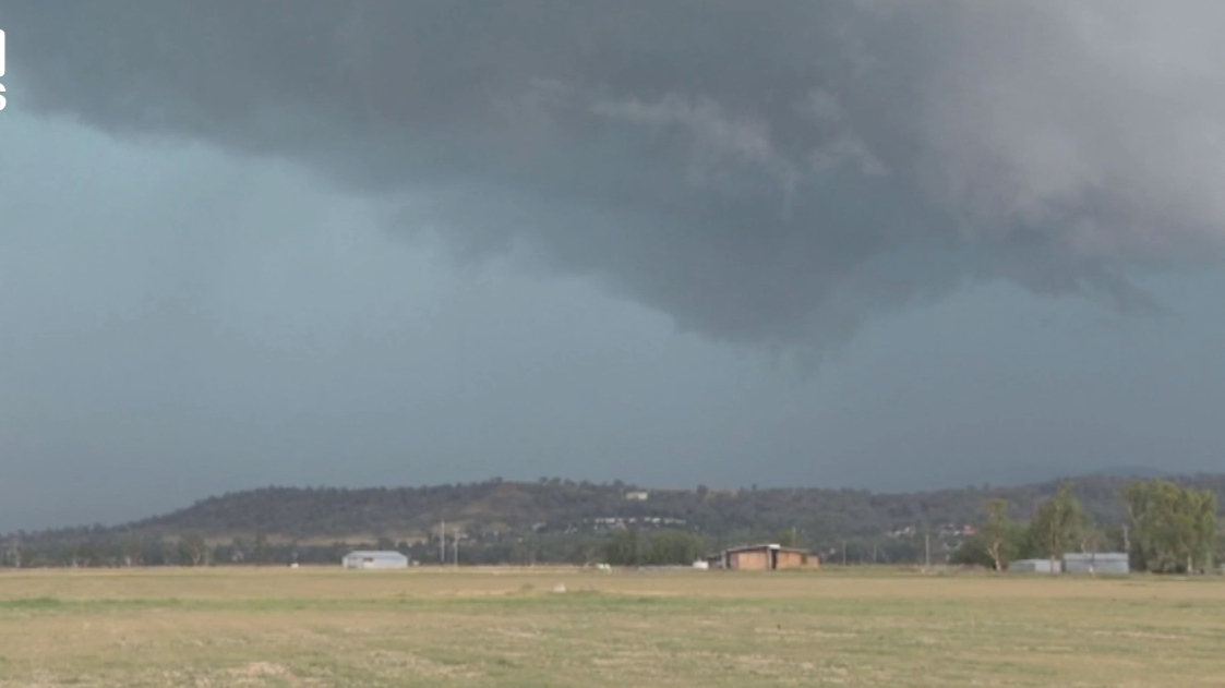 Tamworth hit with hailstones and heavy rainfall