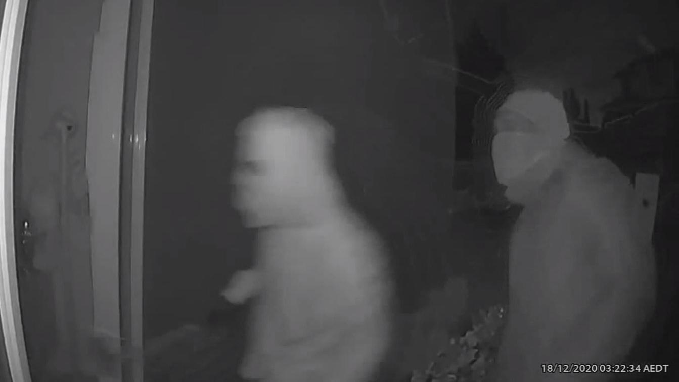 Two children witness violent thieves terrorising household