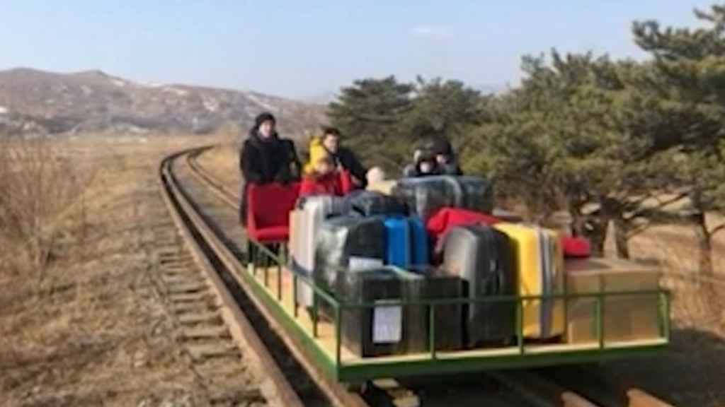 Russian diplomats flee North Korea by hand-pushed rail trolley