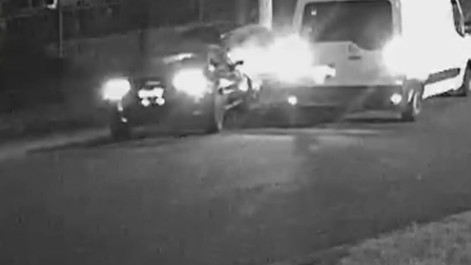 Exclusive vision shows crash suspect appearing to switch vehicles with mystery driver