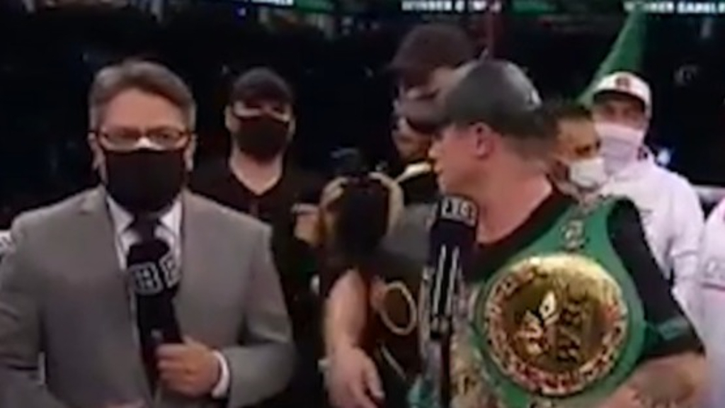 Annoyed Canelo's post-fight interview