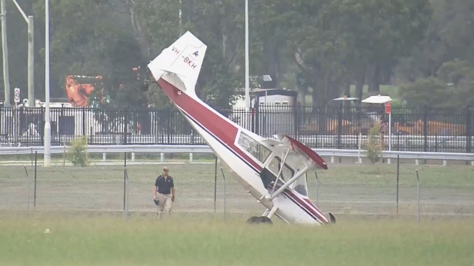 Pilot survives crash landing at Bankstown Airport