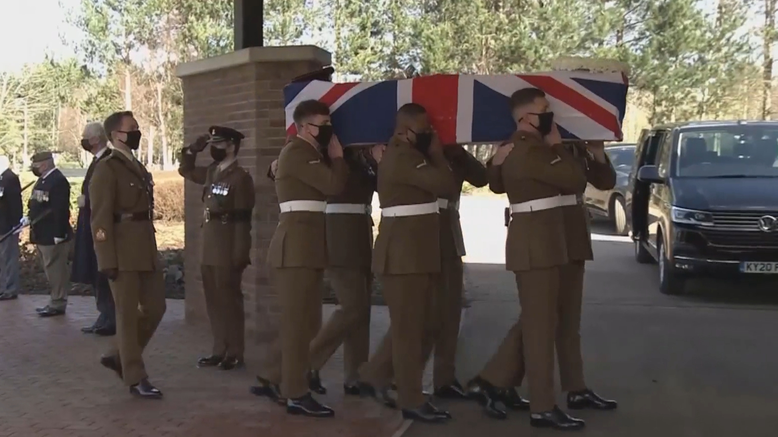 Captain Sir Tom Moore laid to rest