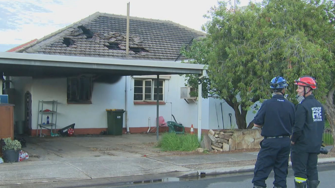Alleged arsonists target Adelaide home