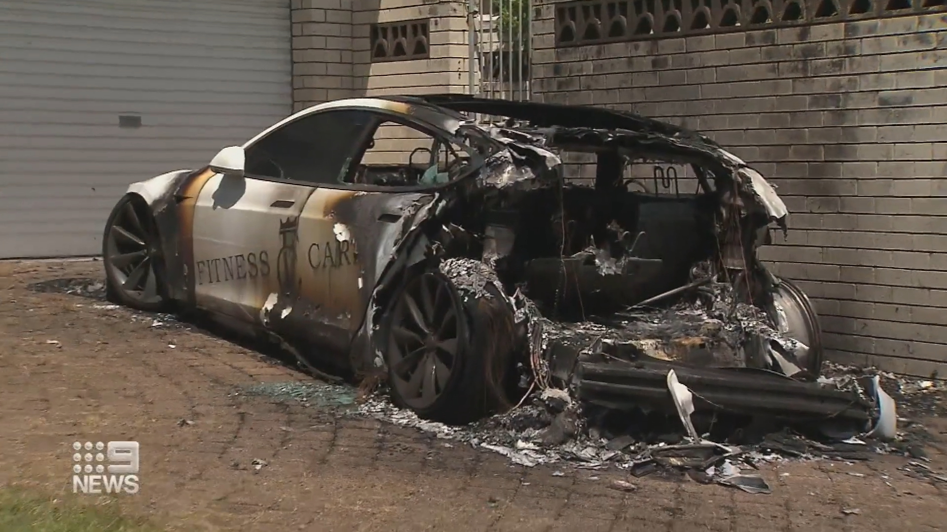 Luxury car goes up in flames on Gold Coast