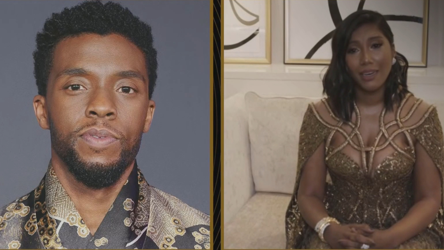 Golden Globes 2021: Chadwick Boseman's wife accepts award on his behalf