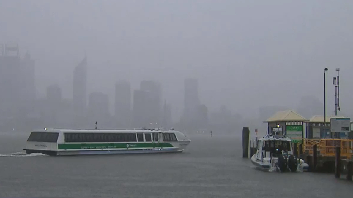 Storm front hits Perth