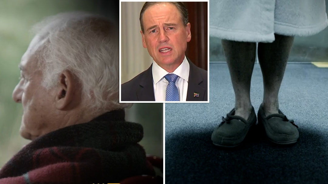 Greg Hunt speaks on aged care crisis