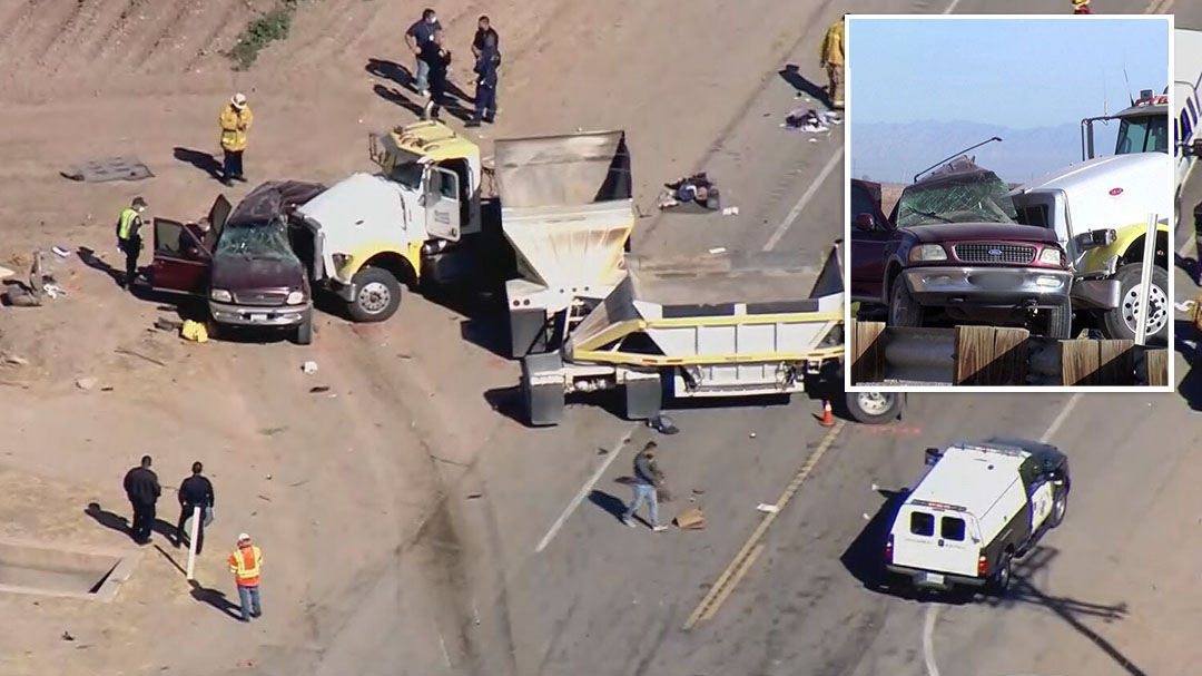 Reports at least a dozen people have been killed in a multi vehicle crash in California