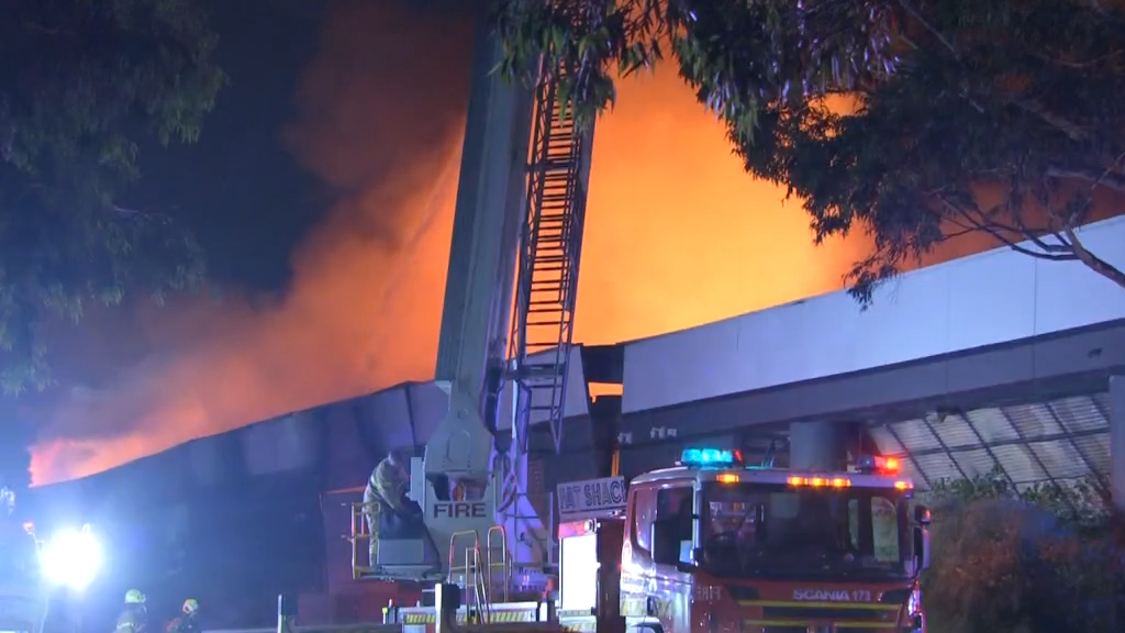 Melbourne firefighters battle fierce factory fire