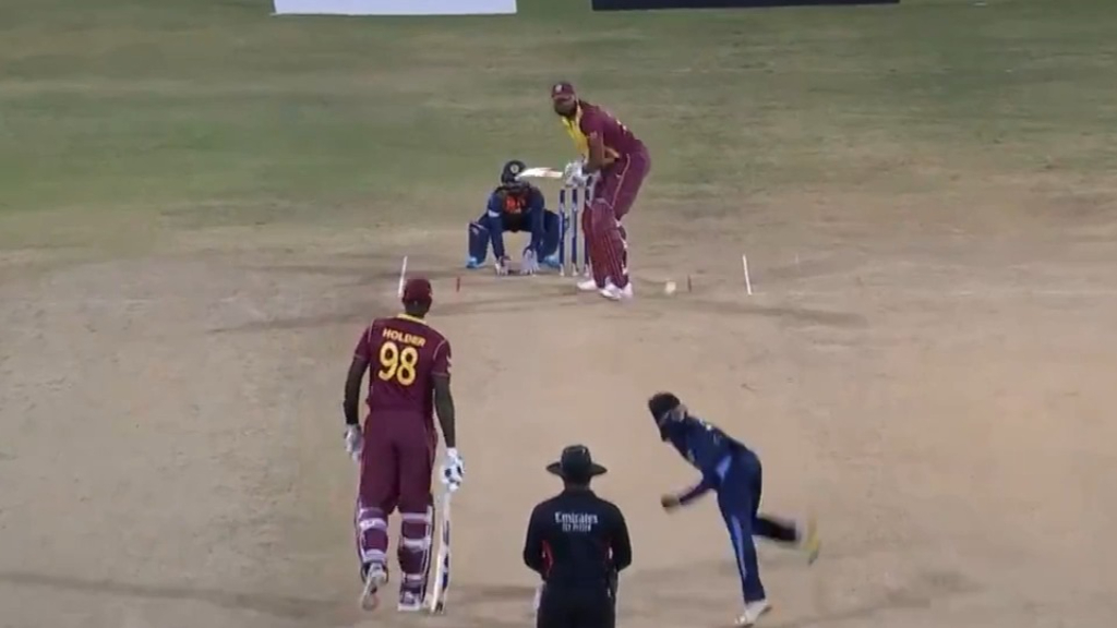 Pollard hits six sixes in one over