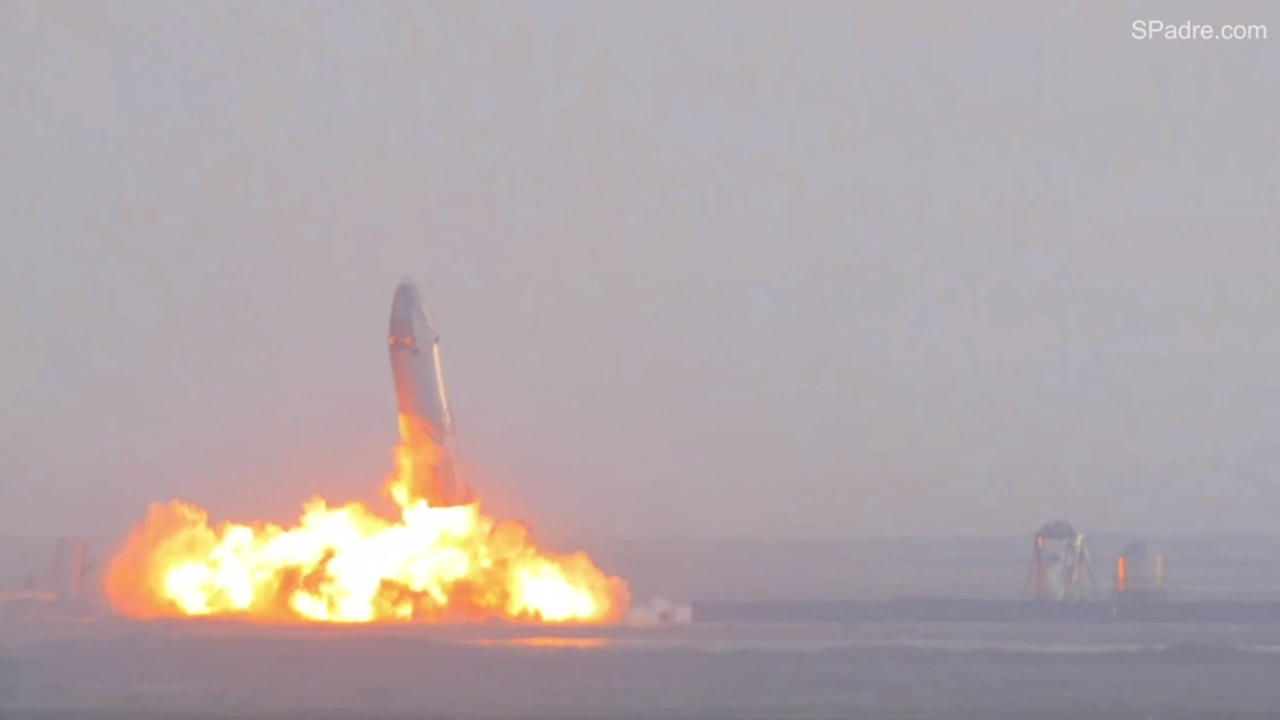 SpaceX Mars prototype rocket nails landing for the first time, but explodes on pad