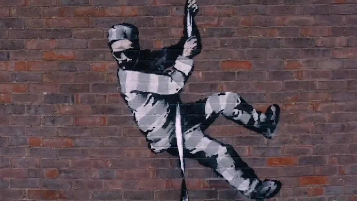 Banksy confirms he's behind UK prison artwork