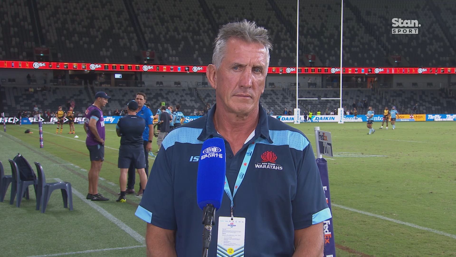 Tahs coach's testy interview