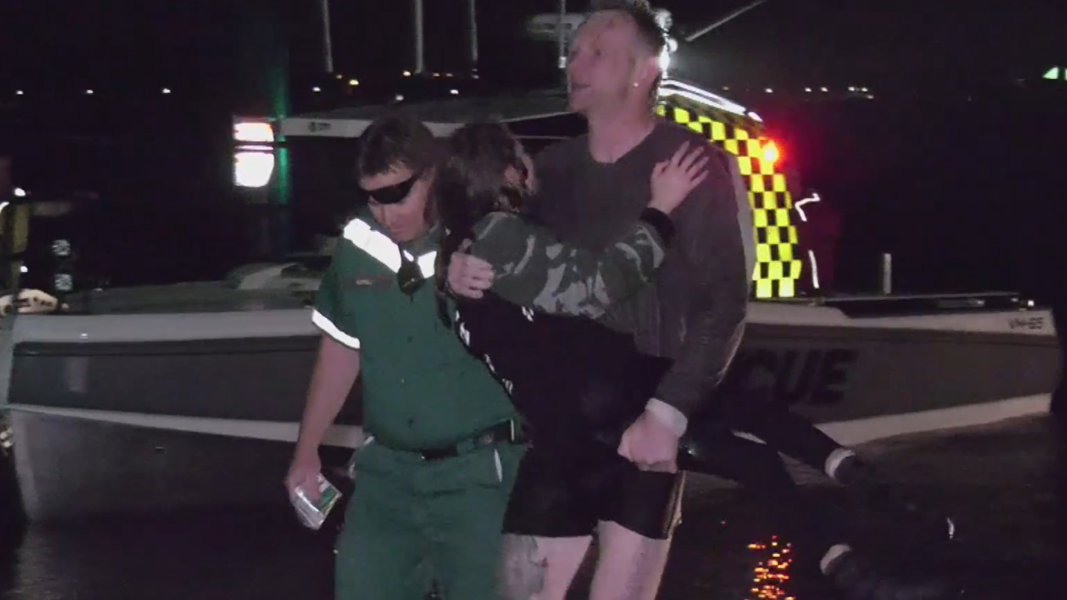 Trio rescued after boat capsizes in freezing water