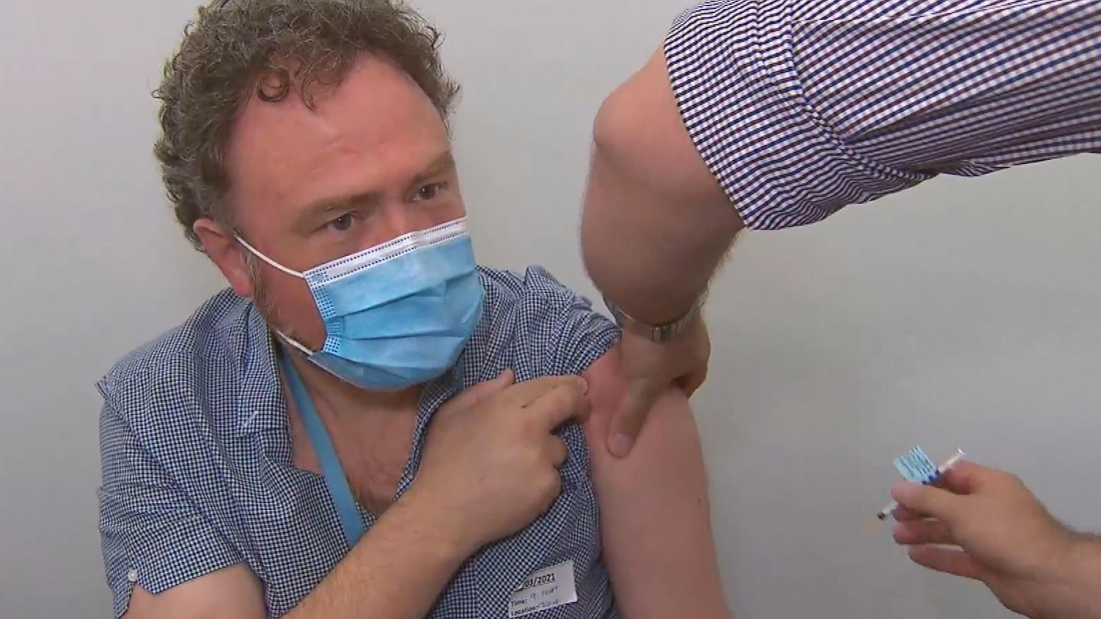 Victoria's frontline workers receive AstraZeneca vaccine