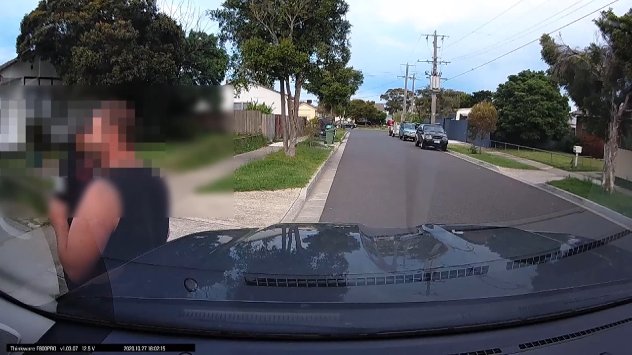 Video captures moment men forced to 'duck and run' during drive-by shooting