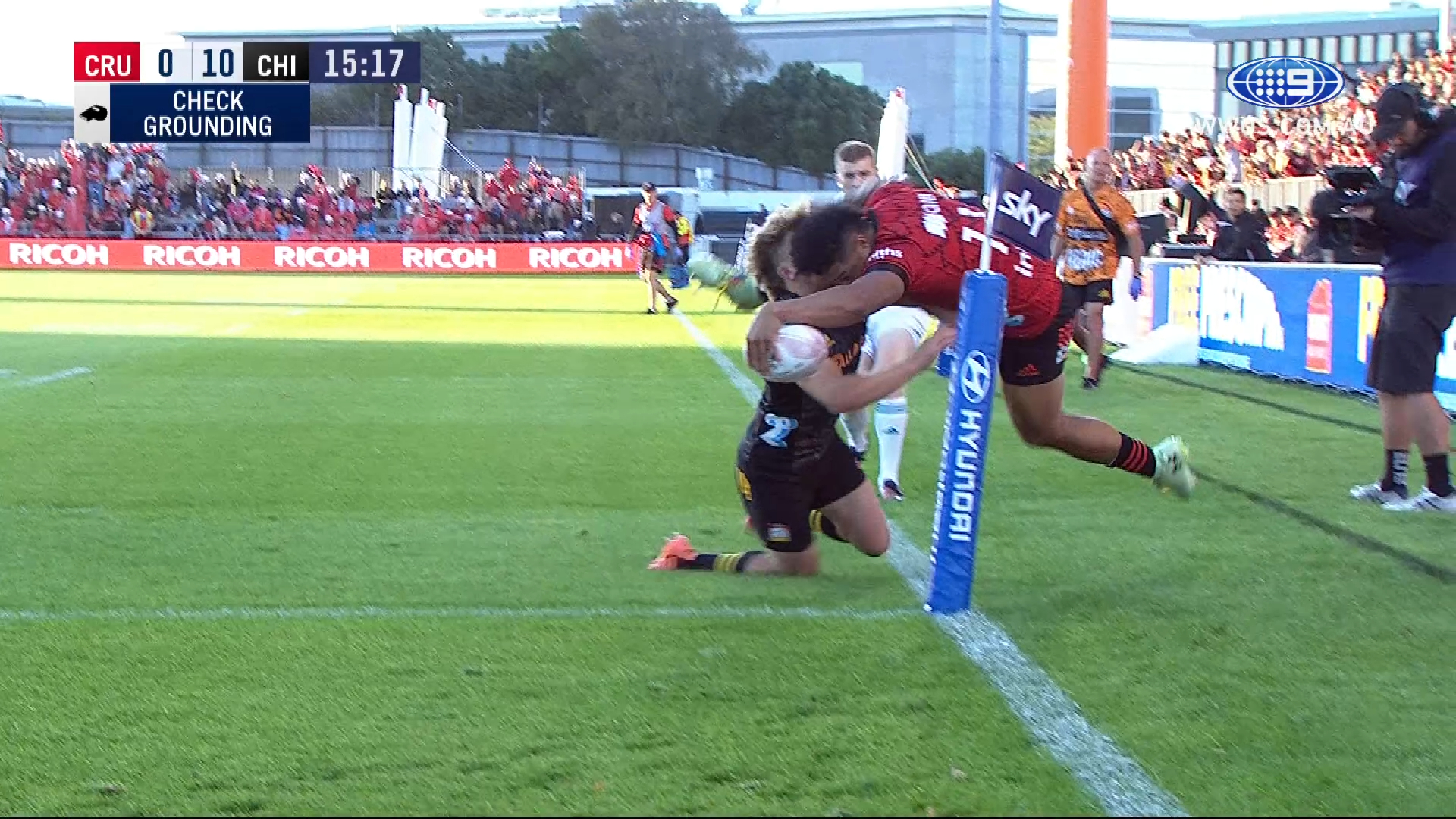 Freakish finish from Crusaders winger
