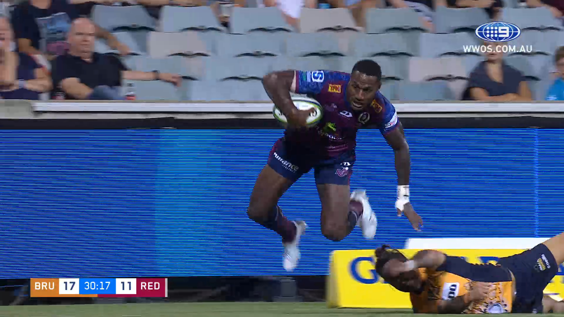 Vunivalu's first Super Rugby try