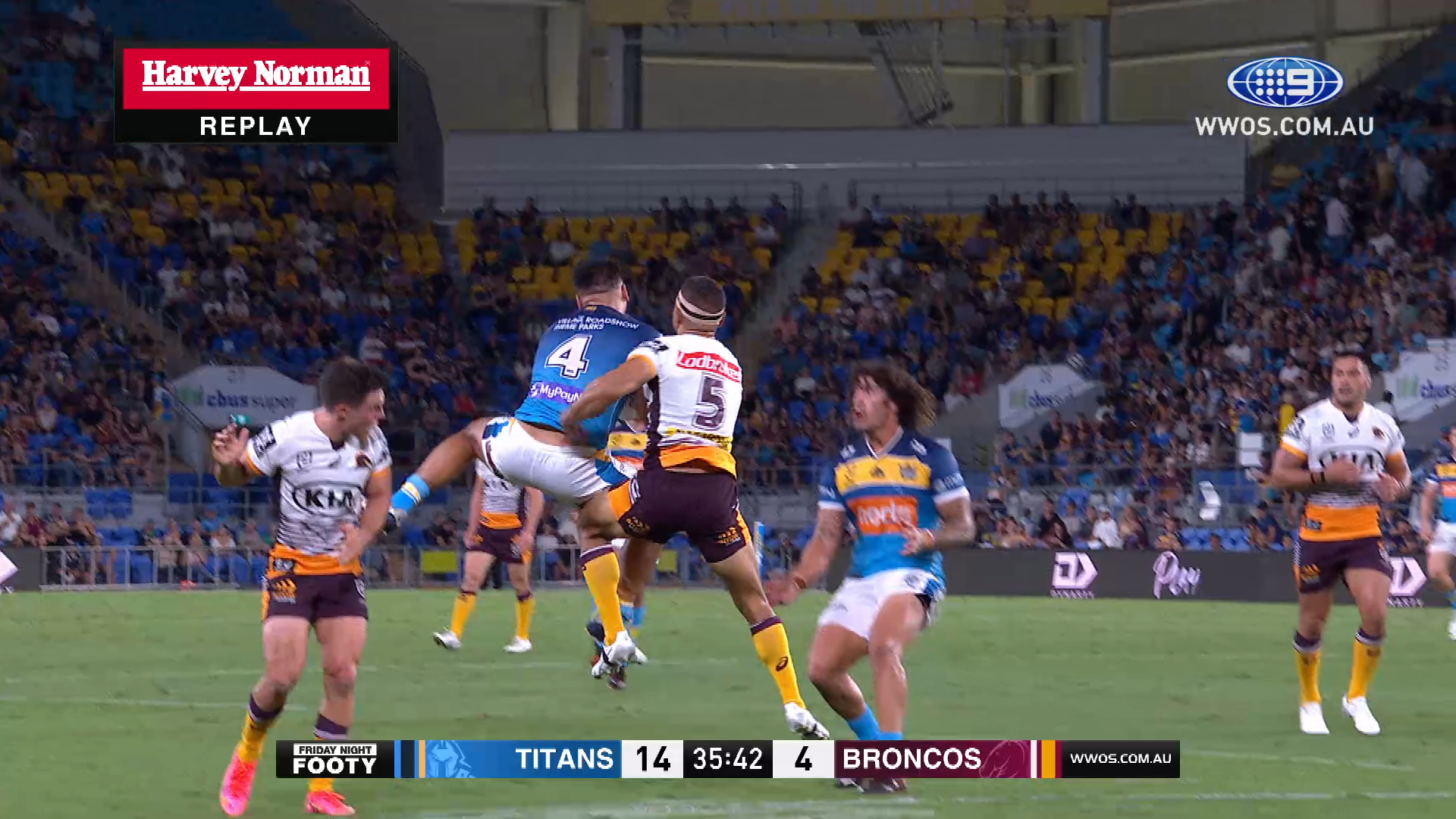 NRL Highlights: Titans scorch Broncos at home