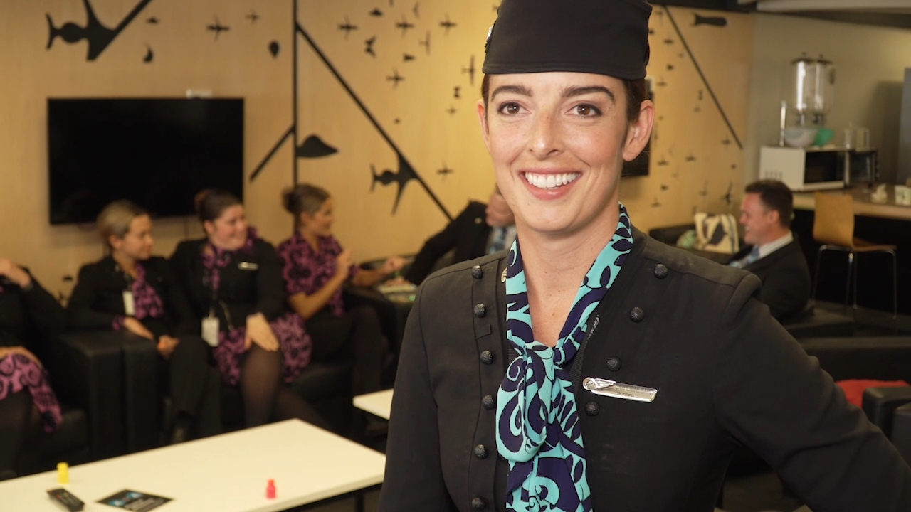 Air New Zealand staff celebrate borders reopening with Australia