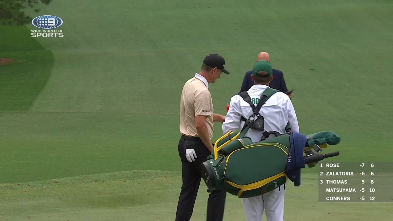 Masters hit by rain delay
