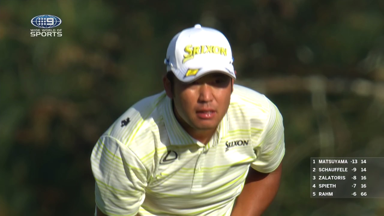Matsuyama finds the water