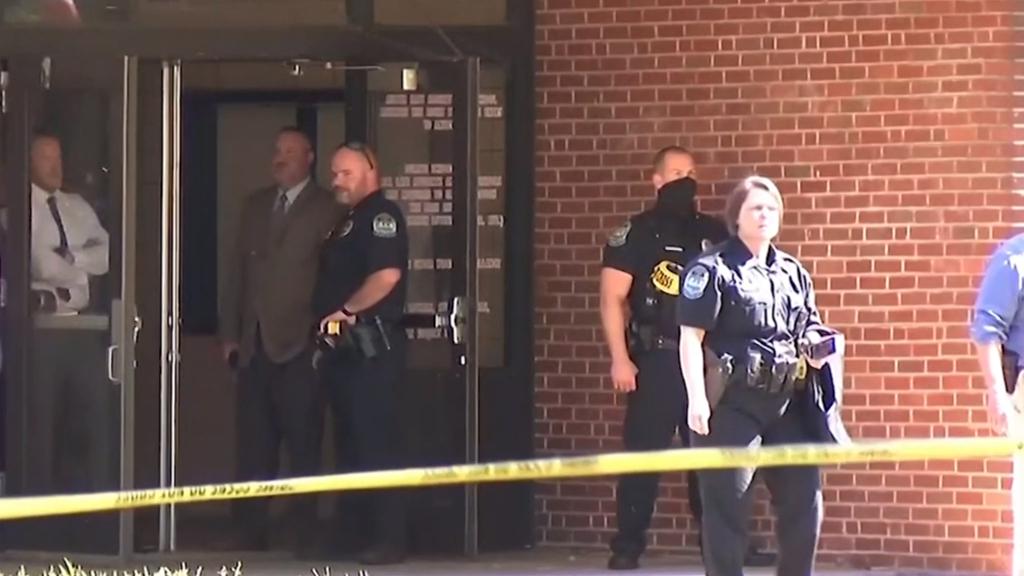 Police officer injured in school shooting