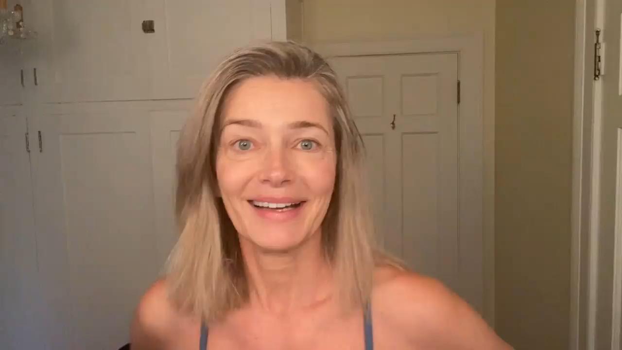 Paulina Porizkova shows off her skin treatment tips
