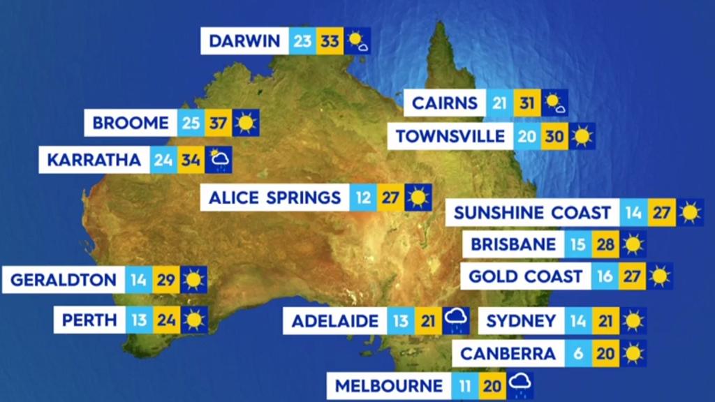 National weather forecast for Thursday, April 15, 2021