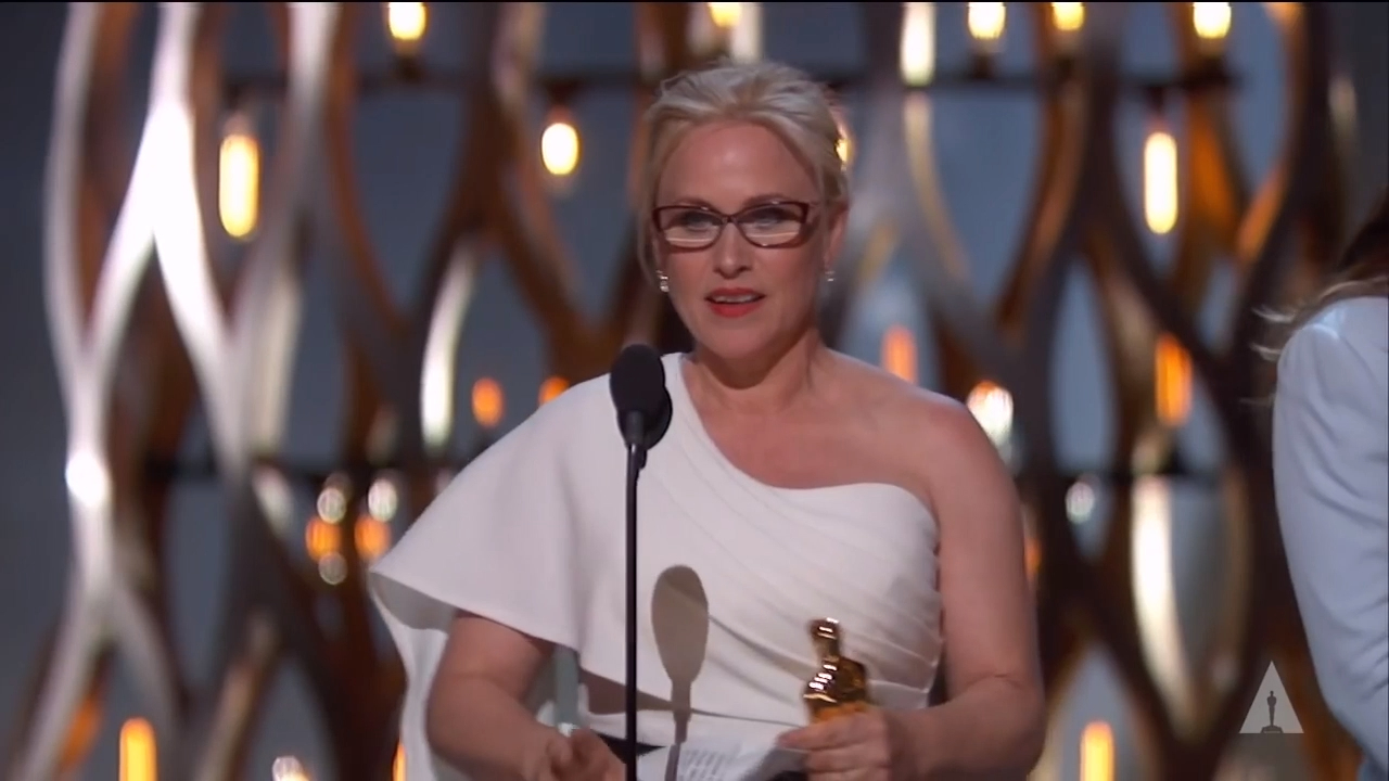 Patricia Arquette wins Best Supporting Actress at Oscars