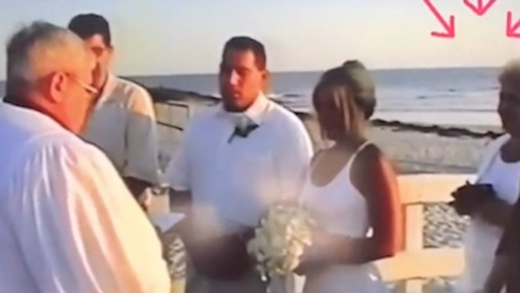Mother-in-law tries to take the bride's place at the altar