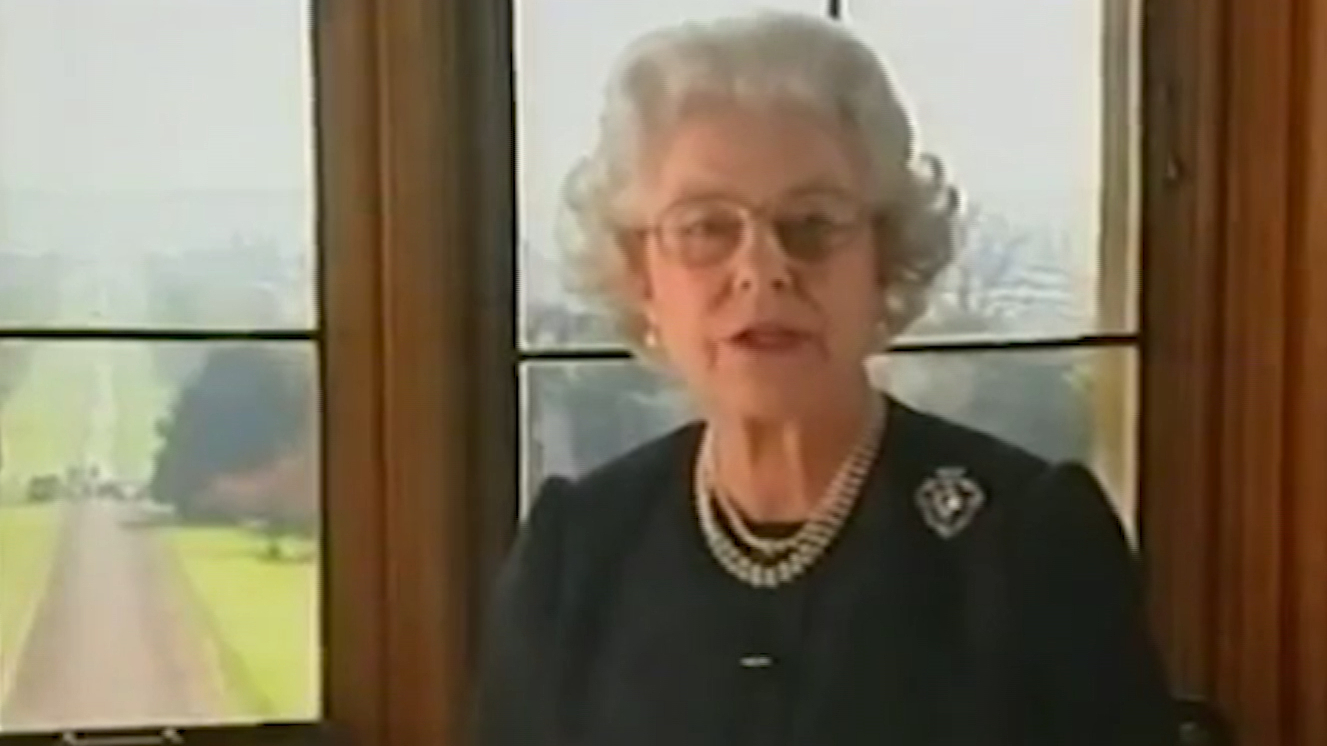 The Queen's address following her mother's death in 2002